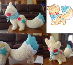 Comparison: Plush vs Drawing ( commission info ) by Saliti