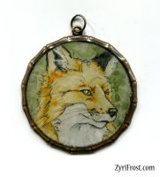 Fox pendant by ZyriFrost