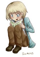 Kawaii Armin is a Smarty Pants by Just-Me143