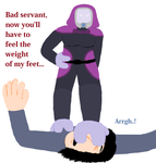 Tali Tramples Servant (Request) by TobyMcDee