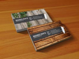Peeling business card by Lemongraphic