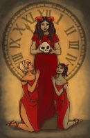 Handmaid to the Master of Death (with Acolytes) by seacrow-at-sea