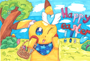 Happy easter everyone! by 1Pikapi1