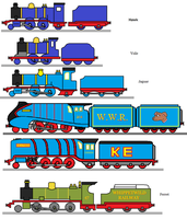Little Engines Next To Big Ones by WhippetWild