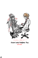 Azami and Kenjirou Day by bloom987654322