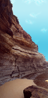 Eroded Cliff Face by CrystalheartKey89