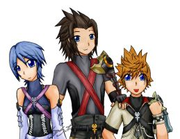 Kingdom Hearts Birth By Sleep by Ciaxlia