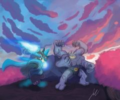 Lucario vs Machamp v2 by SonicX908
