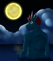 ~Moon River~ [Featuring my new OC Toriso] by KingdomTwilight