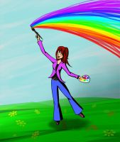 Drawing the rainbow by MousyDi