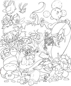 Grass Pokemon -LINES- by TheRaineDrop