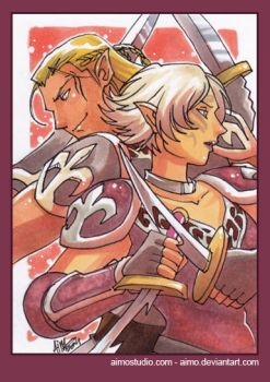 PSC - Zevran and Tabris by aimo