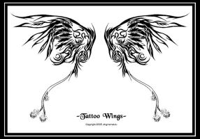 -Tattoo Wings- by Jingmamalulu