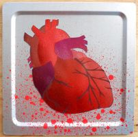 Heart Stencil on Metal by darcydoll