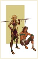 Wild Elves by BluFireDragon667
