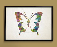 Butterfly watercolor print poster by ColourInk