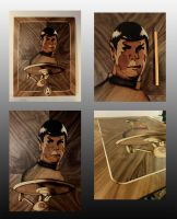 Leonard Nimoy (Mr. Spock) marquetry by Andulino