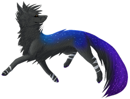 AT: Pixel galaxy wolf by iimoa