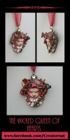 Wicked Queen of Hearts Sculpted Ornament by natamon
