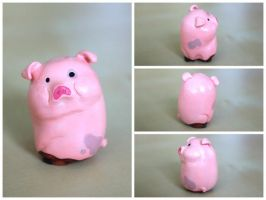 Waddles the Pig by lonelysouthpaw