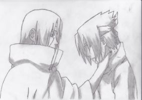 Itachi and Sasuke by Grimstnzborith