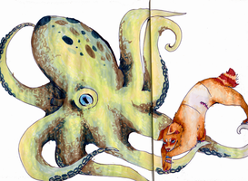 The command of a octopus by Octopus-Machine
