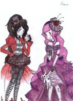 marcy and PB gothic style by NENEBUBBLEELOVER