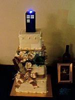 Full TARDIS Cake by NodokaVisualArts