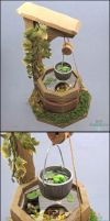 1:12 Dollhouse Scale Miniature Well Pond by Bon-AppetEats