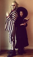 Beetlejuic and Lydia Deetz by xD00Rx