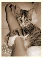 i like your foot... by Daughter-of-Peneus