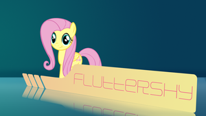 Fluttershy Wallpaper (Happy) by SamXJing
