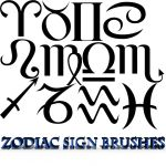 Zodiac Signs Brushes For Photoshop by BeccaB-323-STOCK
