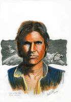 Hans Solo - On the Run - color by antonvandort