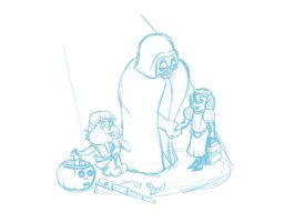 Skywalker Halloween Sketch by ShrunkenJedi
