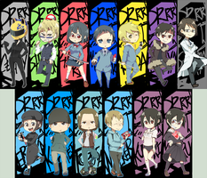 DRRR Bookmarks by takoballs