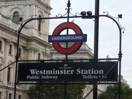 Westminster Station by Lelias