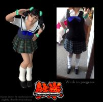 Xiaoyu Cosplay Progress 2 by Narxinba222