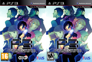 Persona 3 PS3 Cover US and EU by FlashFumoffu