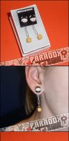 Chain-Chomp Hand Sculpted Earrings by Paradox-Artistry