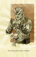 Kain - ink wash by IgorChakal