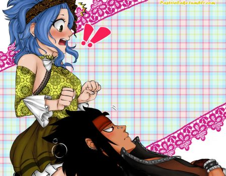 Lap-time~ Gajeel x Levy by PastrieCake