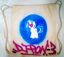 DJ P0N-3 Custom Drawstring Canvas Backpack by anonymousnekodos