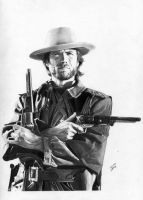 Clint Eastwood by TimGrayson