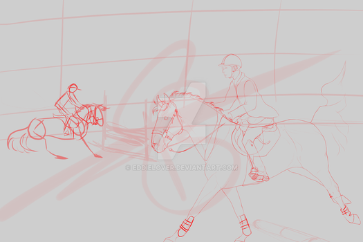 WIP jumping training by EddieLover