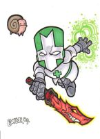Castle Crashers Green Knight by Loyin