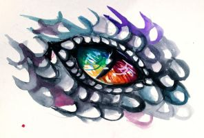 Rainbow Dragon Eye by Lucky978