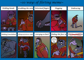Flirting Meme- Randall and Johnny by R2ninjaturtle