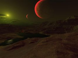 Toxic Planet: Sauron IV by SkillZombie