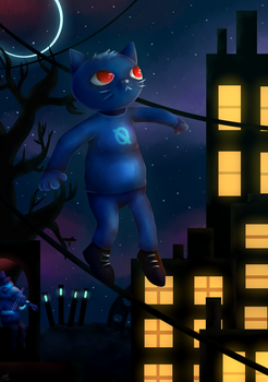 Mae [Night in the Woods by yumiomiru